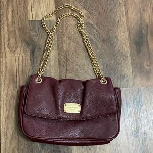 Michael Kors leather bag with chain strap